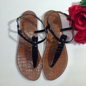 "SAM EDELMAN Black Brown ""Gigi"" Sandals Size 7.5"